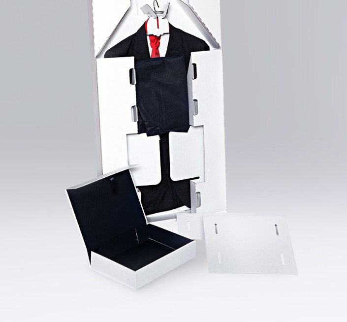 Packaging for suits