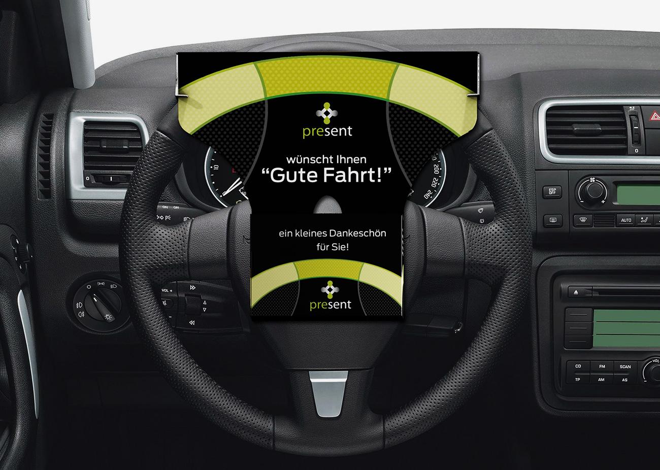 Die Wheel-Box, eine Promotion Verpackung mit Pfiff
