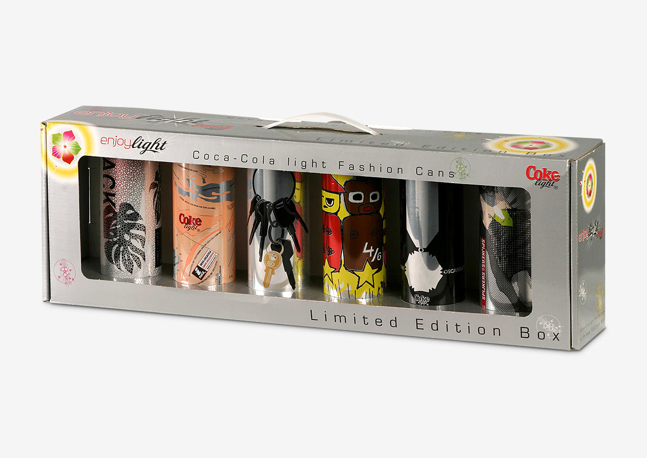 Spezialverpackung - Verkaufsverpackung für Limited Edition Coca-Cola Dosen