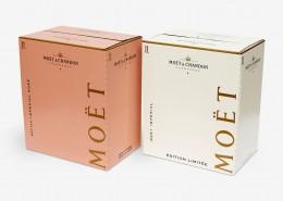 Transportverpackung für Champagner