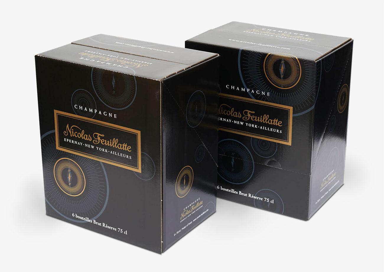 Verkaufsverpackung für Champagner
