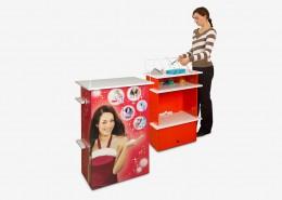 Promotion Material - Packtisch aus Wellpappe