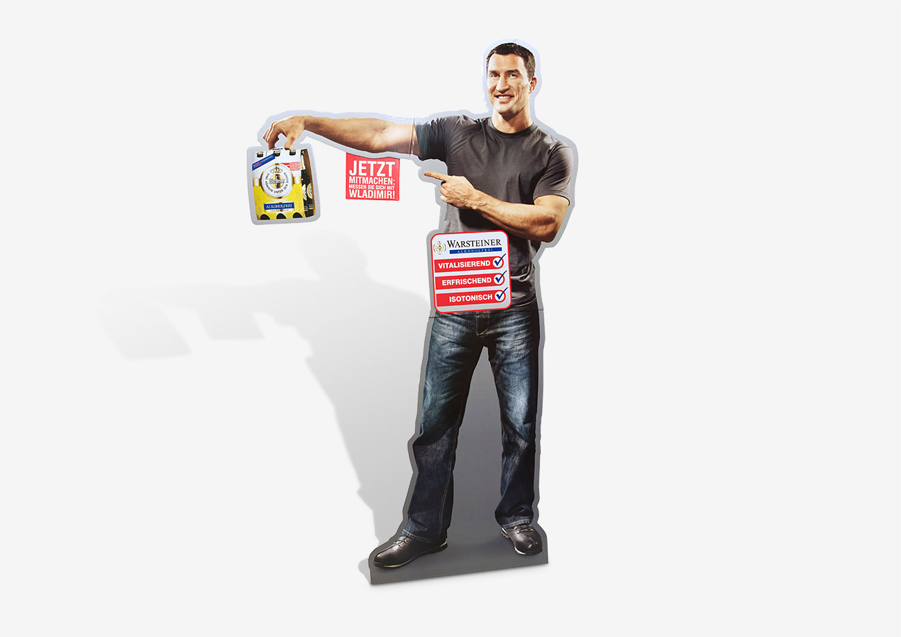 Promotion Material - Standfigur aus Wellpappe