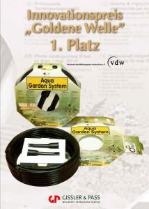 Die Systemverpackung Aqua Garden siegt beim Innovationspreis Goldene Welle des VDW.