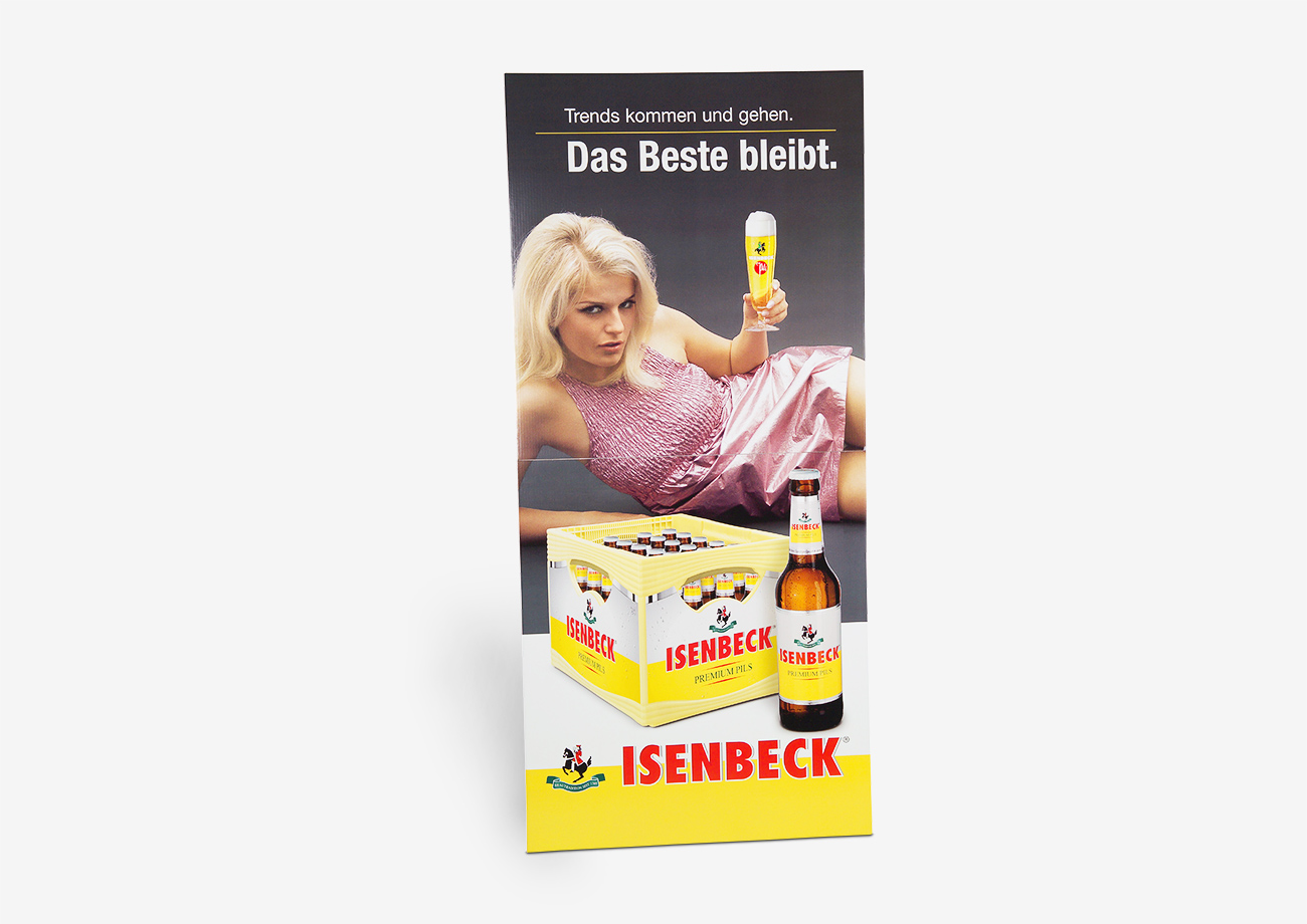 Promotion Material - Großplakat aus Wellpappe