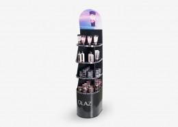 Hochwertiges Bodendisplay für die Kosmetikindustrie