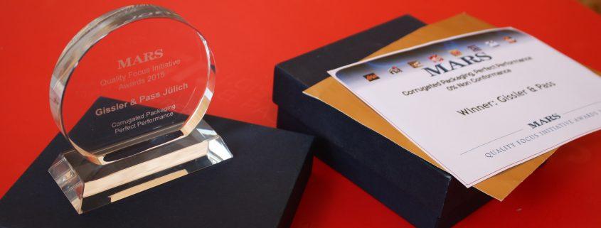 mars2015 web 845x321 - Gissler & Pass gewinnt Mars QFI Award