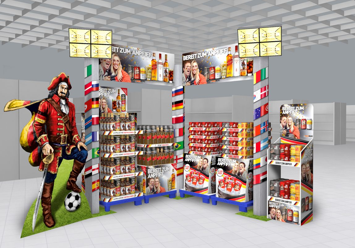 WM Display Kombi Eck e1523948304342 - 'Ready for Kick-Off' – DIAGEO's Big POS Campaign for the 2018 Football World Cup