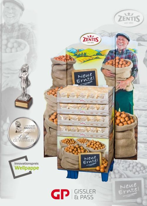 Zentis Neue Ernte: Silber beim POPAI Award 2018 und 3. Platz beim Innovationspreis Wellpappe des VDW