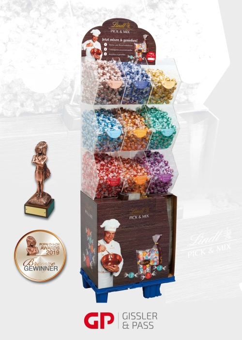 Bronze beim POPAI Award 2019 für das Lindt Pick & Mix Display
