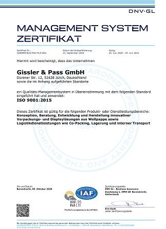Zertifikat ISO 9001 Deutsch 1 323x447