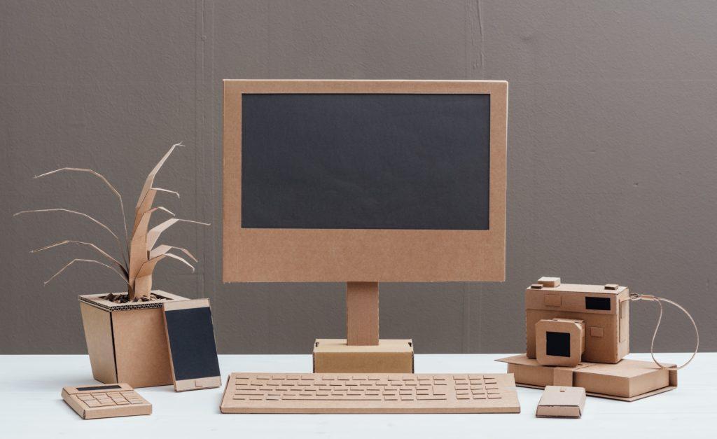 Eco-friendly creative cardboard office