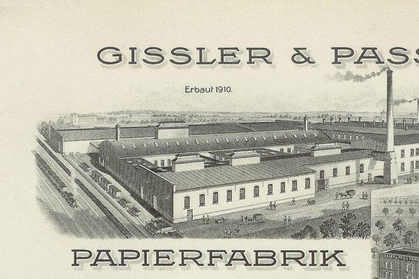 Ein alter Briefkopf von Gissler & Pass aus dem Jahr 1910